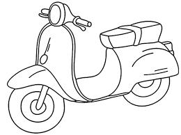 Moto Piaggio Vespa Disegno Da Colorare Online Gratis Disegni Da Con