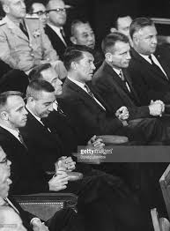 best alan shepard images astronauts mercury astronauts walter schirra c virgil grissom and others listening to speech during joint session of congress