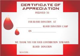 Donation Certificate Template Beauteous Blood Donation Certificate Template Donation Certificate Templates
