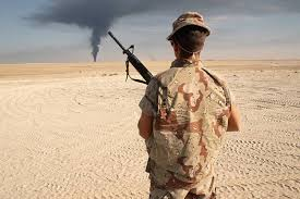 desert storm the last classic war wsj a u s ier near s border watches a plume of smoke on the horizon