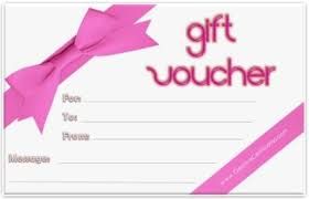 Personalised Gift Vouchers Templates Free Printable Gift Voucher Template Instant Download No
