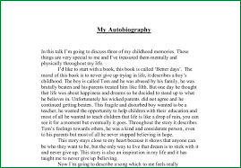 biography essay examples