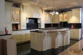 Kitchen Antique White Maple Glazed Kitchen Cabinets Then