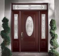 belleville mahogany textured 2 panel hollister door 3 4 oval with aurora glasstraditional exterior tampa