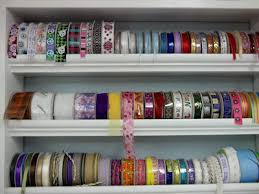 moulding ribbon storage awesome craft room