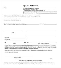 Quick Deed Form Magnificent 48 Quitclaim Deed Forms Samples Examples Format Sample Templates