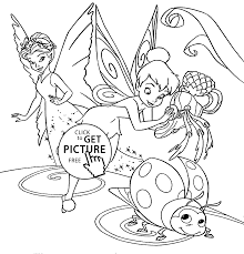 Tinker Bell Painting Coloring Pages For Kids Printable Free