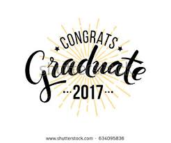 congratulations to graduate congratulations graduate 2017 vector isolated elements stock
