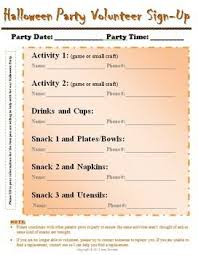 Easy Sign Up Sheet Classroom Party Volunteer Sign Up Sheet Room Mom Pinterest