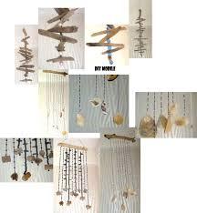 Diy Verschiedene Mobiles Aus Perlen Treibholz Und Muscheln