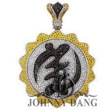 cj 0057 custom diamond custom chinese character pendant