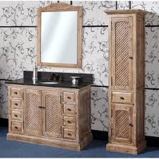 antique wk series 48 inch rustic single sink bathroom vanity natural oak finish
