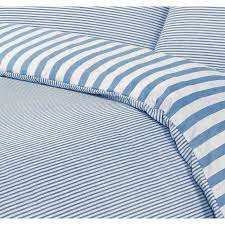 image of ticking stripe bedding