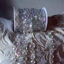 stock 30meters 99feet roll 10mm acrylic disk beaded iridescent rainbow crystal garland strands