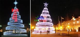 newest style holiday street decoration lighted outdoor wire christmas tree