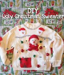 diy ugly sweater with lights from spit up is the new black