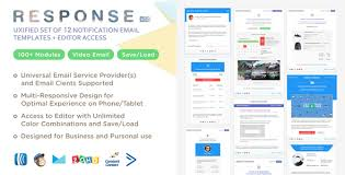 Business Website Templates Magnificent Response UXified Set Of 48 Notification Email Templates Online