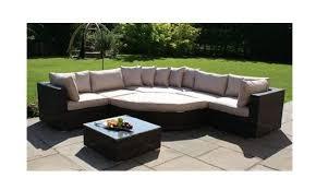 garden corner sofa half moon taupe
