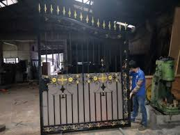 custom security wrought iron gate