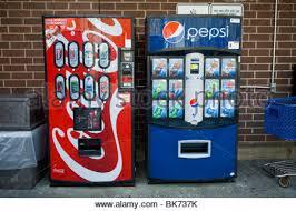 Pepsi Cola Vending Machines Magnificent Pepsi Cola And Coca Cola Vending Machines Side By Side Stock Photo