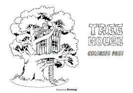 Coloring Pages Of Tree Houses Coloring Page Houseboat Tree House
