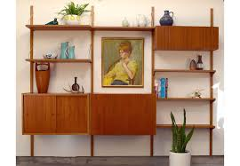 danish teak wall unit by preben