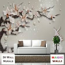3d floral wall murals and... - Magic ...
