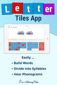 Now they've got a letter tile app that can do away with your whiteboard or  make on the go learning easier!