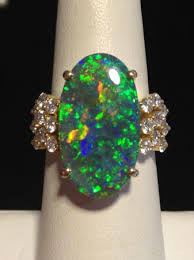 altmann cherny australian opals extremely fine black opal ring set with diamonds