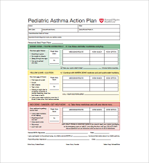Asthma Action Plan Template 13 Free Sample Example