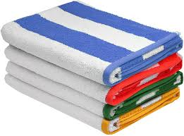 awesome beach towels. Comes In A Pack Of 4, This Set Includes Awesome And Cool Large Beach Towels For You To Use. Each Towel Has Different Cabana Stripe That Can Switch