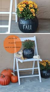 diy front porch decorating ideas. chalkboard pumpkin planters | via makinghomebase click pic for 23 diy fall front porch decorating ideas diy