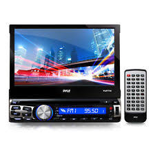 single din gps pyle pyle 7 flip out single din dvd receiver gps and bluetooth plbt73g