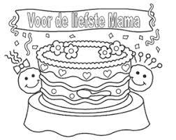 Kleurplaat Mama Jarig