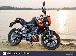 khabarovsk russia july 27 2016 motorcycle ktm duke stands on the s