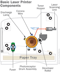diagram of laser printer diagram image wiring diagram the basics drum how laser printers work howstuffworks on diagram of laser printer
