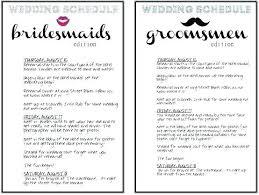 Wedding Schedule Of Events Template Destination Wedding