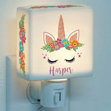 Happy Unicorn Personalized Night Light Personalized Planet