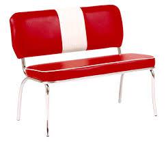 2x Sitzbank Peter Verchromt Rot 48x45x100 Mit Lehne 2er Set Sitzgruppe
