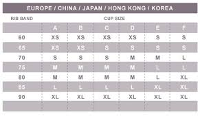 Us Size Chart To China Bralette Sizing Oh La Lari Llc