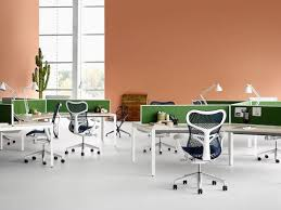 studio office furniture. Blue Mirra 2 Office Chairs Paired With Project Team Tables From The Layout Studio Furniture