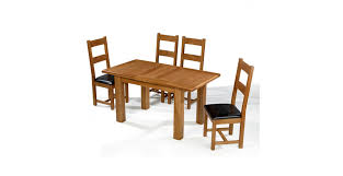 emsworth oak 120 150 cm extending dining table and 4 chairs