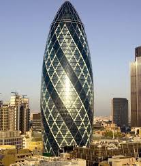 Gherkin Building in London - still not sure about this building - doesn't  reflect