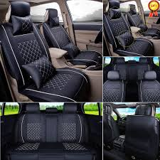 details about pu leather truck suv car seat cover size l 5 seats front rear cushion pillows