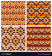 Mexican Pattern Unique Geometric Ethnic Aztec Mexican Seamless Patterns Vector Image