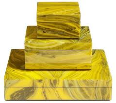 Stacking Boxes Decorative Yellow Marble Stacking PC boxes home accessories lille a 60