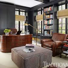 Manly office decor image small stlye Desk Handsome Rooms With Masculine Vibe Traditional Home Magazine Handsome Rooms With Masculine Vibe Traditional Home