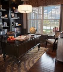 home office decorating. Marvelous Drum Pendant Light Above Classic Wooden Desk For Old Fashioned Decorating  Home Office Home Office Decorating R