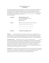 Collection Of Solutions Letter Of Intent Real Estate Lease Sample