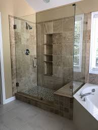 having glass shower doors and enclosures makes it extremely easy to clean as well